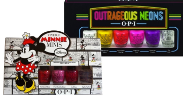 Chegam ao Brasil duas coleções de esmaltes da OPI. A Vintage Minnie Minis, inspirada na Minnie Mouse, conta com três esmaltes cremosos em tons do vermelho ao rosa e uma base de secagem rápida (preço sugerido: R$ 35). Já a Outrageous Neons OPI tem quatro tons neons, um branco e uma base. Preço R$ 69 cada (Sujeito a alteração)