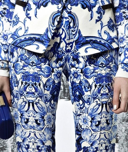 Roberto Cavalli Spring 2013-porcelain prints