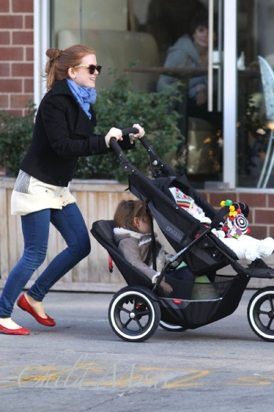 Isla Fisher Takes her Daughters Olive Cohen and Elula Lottie Miriam Cohen to a Playground
